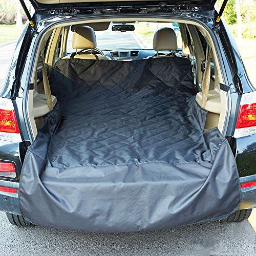 INNX Cargo Cover Quilted Cargo Liner-OP903003 (2018 Popular Design) Universal for Fold Down Seat, Ford,Jeep,Trucks,Chevrolet,Pickup,Dogs,Pets, Waterproof, Heavy Duty and Nonslip, Size 106″ L x 55″ W Review
