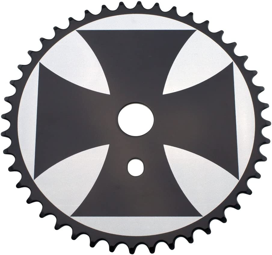 Various Colors Fenix Cross Bike Sprocket//Chainring Black//White 44T 1//2 X 1//8