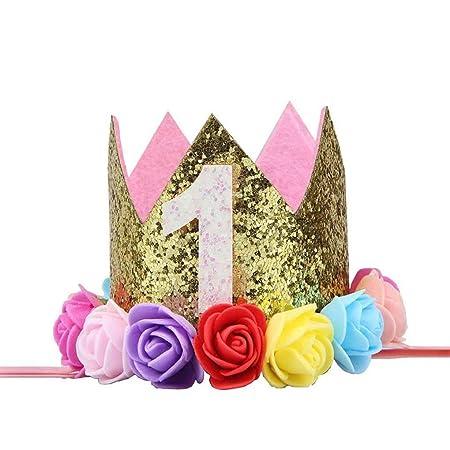 Yangge Yujum - Gorro de cumpleaños para niña, diseño de ...