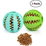 iMucci Pack of 2 Toy IQ Ball for Dogs & Cats Durable Non-Toxic Stong Tooth Cleaning Feed Ball Training/Playing/Sewing (Dental Treat and Bite Resistant)