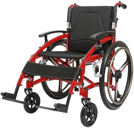 Transport Wheelchair Sedia A Rotelle Autoportante Pieghevole In Alluminio Leggero Per Anziani Portatori Di Handicap E Portatori Di Handicap Con Freno A Mano E Ruote Posteriori A Sgancio Rapido Amazon It Sport E