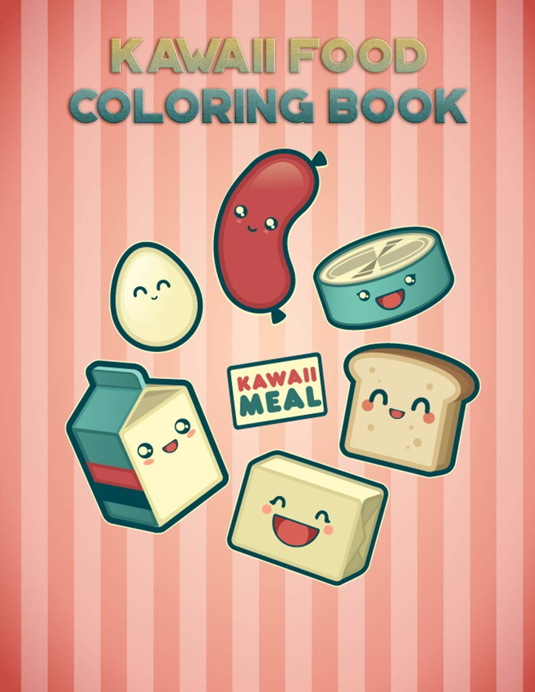 - Kawaii Food Coloring Book: With 25 Beautiful Pictures, Large (8.5