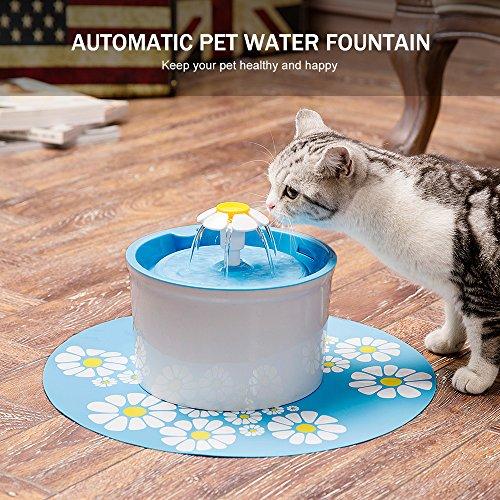 UUNITONA Bebedero Gatos Automático Fuente de Agua Silencia para Mascotas Gatos Perros 3 Filtros de Carbón Gratis (1.6L Azul): Amazon.es: Productos para ...