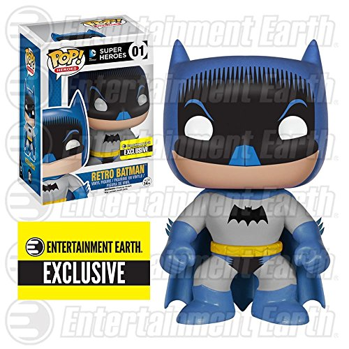 Retro Batman 1950s Comic Pop Super Heroes Exclusive Vinyl Figure -