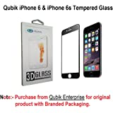 Qubik Soft Sides Curved Edge 3D Full Screen Tempered Glass Screen Protector for iPhone 6 6S - Black