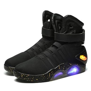 a756513507989 Halloween Marty McFly Schuhe Film Cosplay Kostüm Schwarz Licht Oben Herren  Sneakers Sport Stiefel Zubehör
