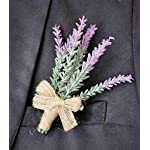 Yokoke-Artificial-Lavender-Flowers-Boutonniere-Bouquet-Corsage-Wristlet-4-Pcs-Nearly-Natural-Fake-Purple-Plant-with-Burlap-Bow-for-for-Wedding-Church-Party-Home-Decor
