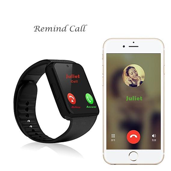 serpeo Smart Watch gt08 reloj inteligente bluetooth teléfono con tarjeta SIM para Android iPhone Samsung IOS: Amazon.es: Relojes