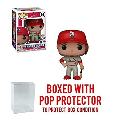 POP! Sports MLB's St. Louis Cardinals, Yadier Molina Grey Road Jersey Action Figure (Bundled with Pop Box Protector to Protect Display Box): Toys & Games
