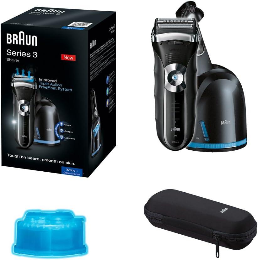 Braun - Afeitadora Series 3-370-4 cc con sistema de carga y autolimpieza Clean & Renew: Amazon.es: Salud y cuidado ...