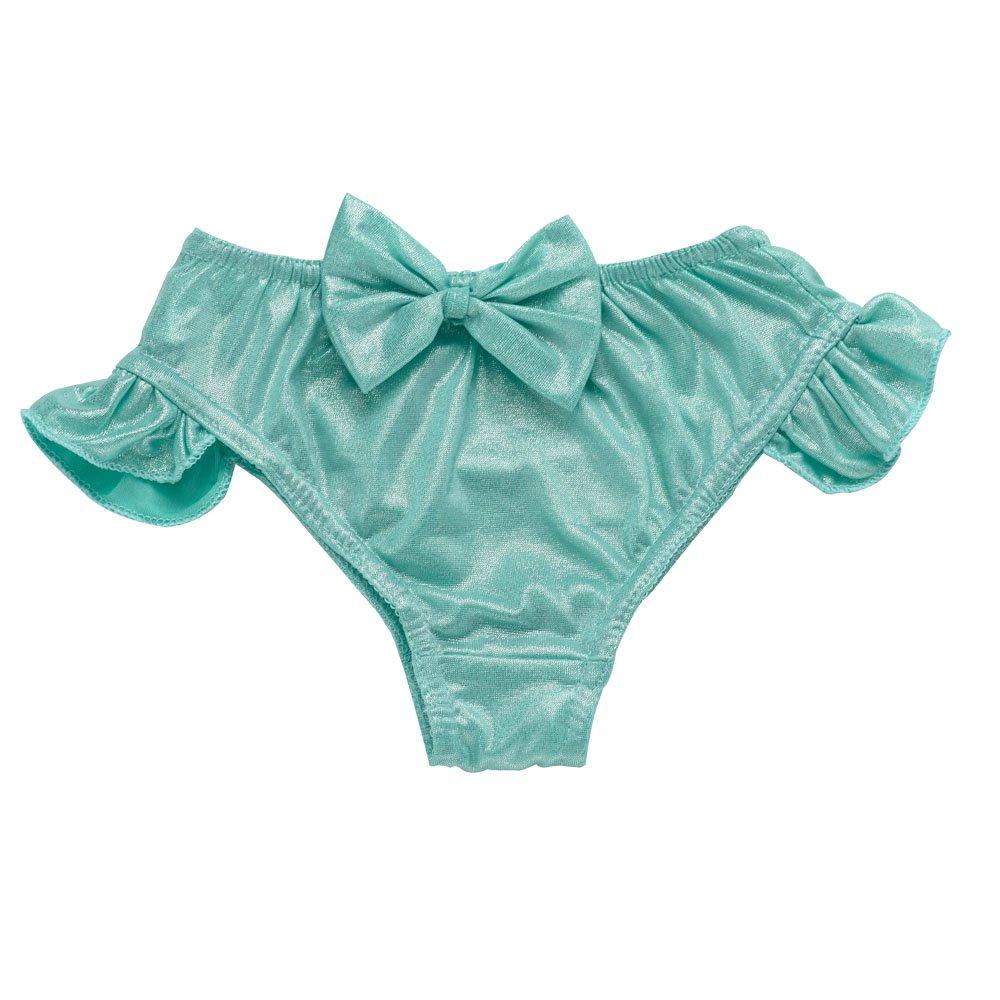 JFEELE Kids Little Girls 2 Piece Swimsuit with Mermaid Tail Swimwear Bikini Set - 4-5T,Blue by JFEELE (Image #3)