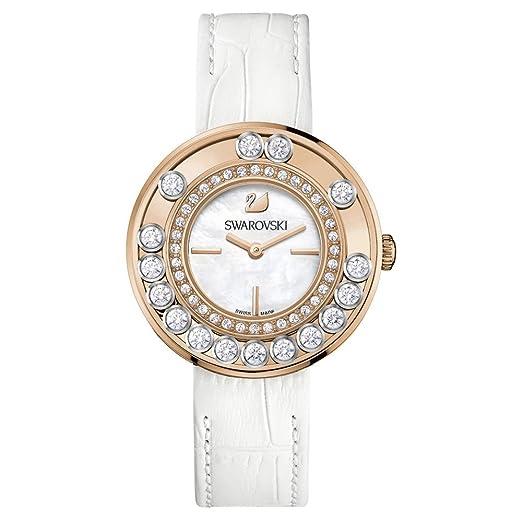 Swarovski Reloj analogico para Mujer de Cuarzo con Correa en Piel 1187023: Amazon.es: Relojes