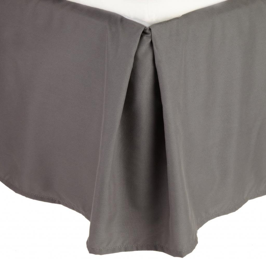 Clara Clark A Premier 1800 Collection Solid Bed Skirt Dust Ruffle, Full/Double, Charcoal Gray