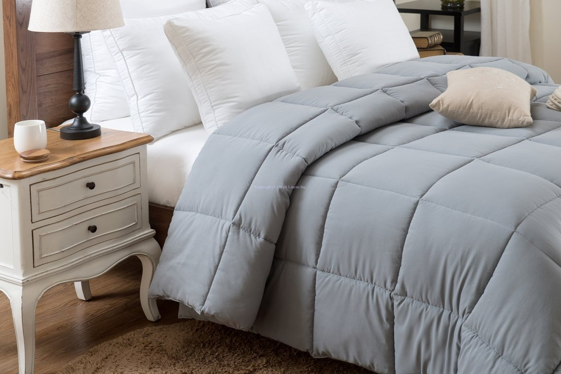 Super Oversized - Down Alternative Comforter - Fits Pillow Top Beds - Queen 92'' x 96'' - Gray - Exclusively by BlowOut Bedding RN #142035 by Web Linens Inc (Image #3)