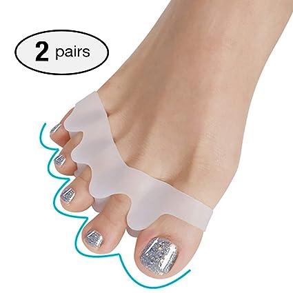 2 pares Separador de dedos de gel, para corregir hallux valgus, alivio del dolor después del ...