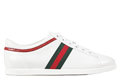 0b0e4d5a230 Gucci women s shoes leather trainers sneakers moorea white UK size 6 309802  BLQN0 9069