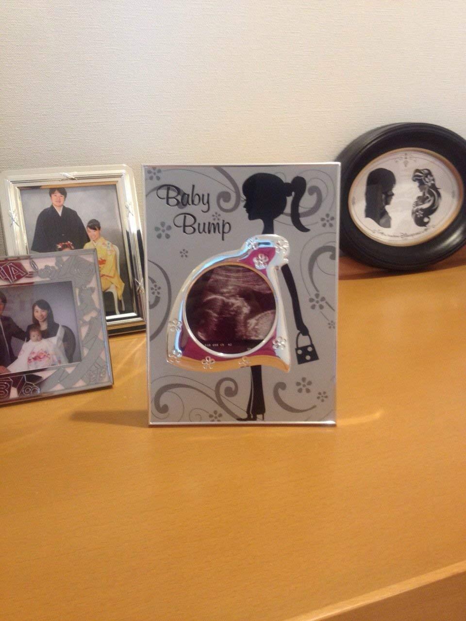 3x3 Malden International Designs Baby Bump Metal Baby Memories Picture Frame Silver