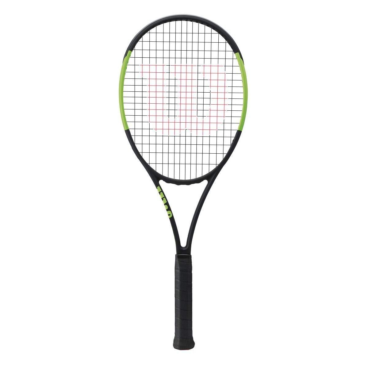 Wilson Blade 98 18 x 20 CV (Countervail) グリーン/ブラックテニスラケットStrung withカスタムラケット文字列色 B076DVZ4Y1 4 3/8 inch|Natural String Natural String 4 3/8 inch