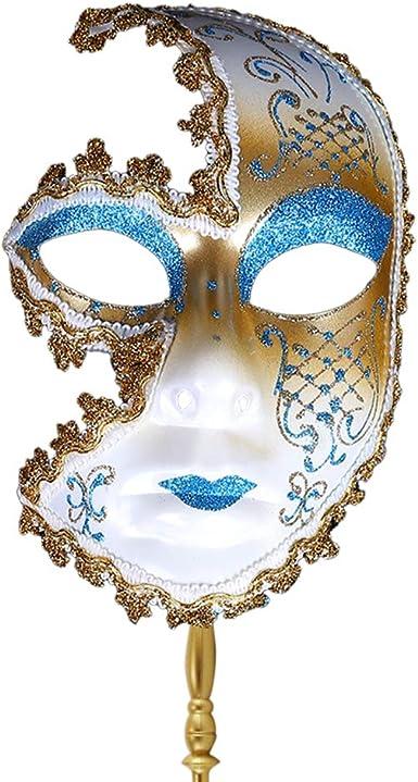 Zhuhaijq Máscara Fiesta de Disfraces Brillante - Máscara de Lujo ...