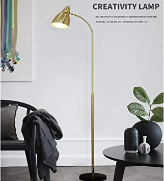 lamparas de pie de lectura doradas