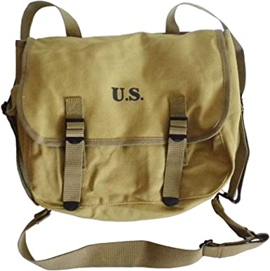 1605 WWII US ARMY M1936 M36 MUSETTE FIELD BACK PACK HAVERSACK BAG