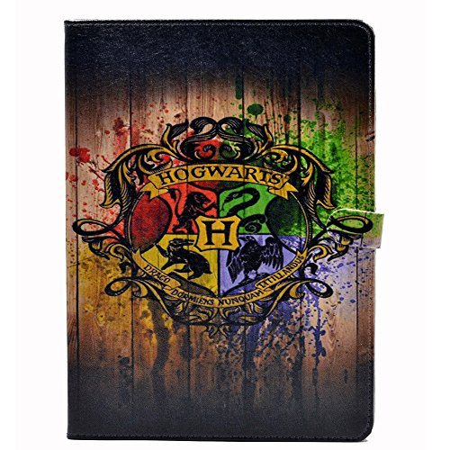 YHB Hogwarts Watercolor Art Pattern Leather Flip Stand Case Cover For Apple ipad Air 2 II (2014 Model)