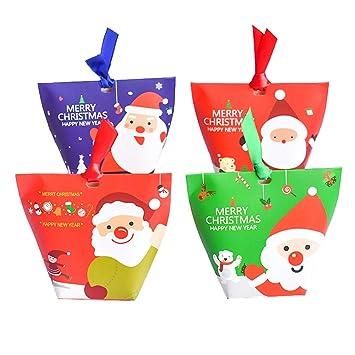 Amazon.com: CINLAN 12pcs Navidad Regalo Cajas Fiesta Postre ...