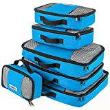 Savisto Packing Cubes - Small, Medium, Large, XL (6-Piece Set) - Blue