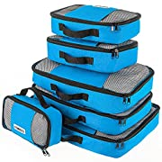 Savisto Packing Cubes – Small, Medium, Large, XL (6-Piece Set) – Blue