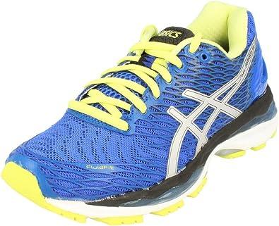 ASICS Gel-Nimbus 18 (Rio), Zapatillas de Running para Mujer, Azul (Blue Purple/Silver/Sunny Lime), 35 1/2 EU: Amazon.es: Zapatos y complementos