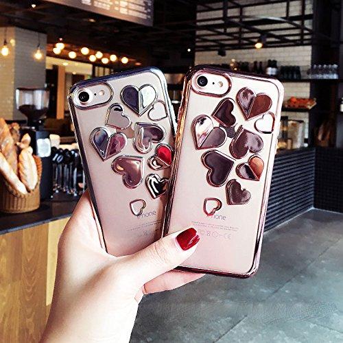 Transparente iphone 7 Flexible Coque Housse Shiny Coque Crystal Plus TPU Amour 3D Étui motif Ekakashop 8 Gel Antidérapant Amour Argenté Silicone pour iphone Silicone Bling Souple Clair Plus Créatif Argenté Brillant Udw5xrFw1q