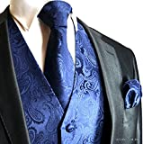 Kyпить Brand Q Wedding Vest Set Navy Blue Paisley Tuxedo Vest Tie Handkerchief M на Amazon.com