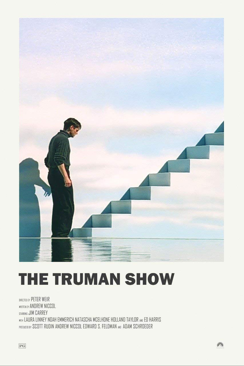 Tallenge - Hollywood Poster Collection -The Truman Show - Jim Carrey - Small Poster (Paper, 12 x 17 inches, Multicolour): Amazon.in: Home & Kitchen