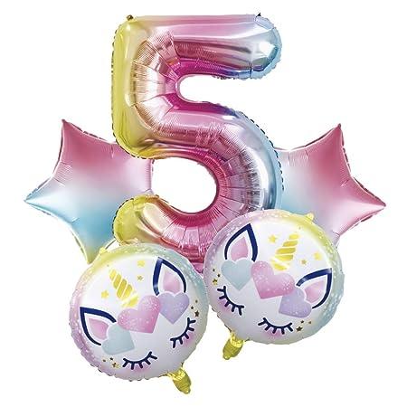 SMAQZ Globo de cumpleaños Unicornio, decoración de ...