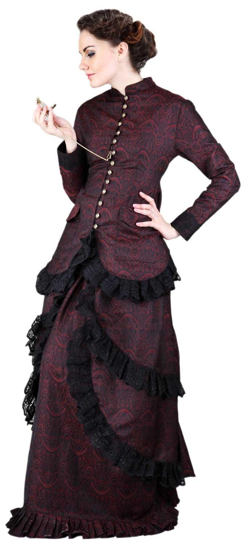 ThePirateDressing Steampunk Victorian Brocade Dinner Skirt (XXX-Large (Waist 39''-41''))