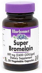 BlueBonnet Super Bromelain Vegetarian Capsules, 500 mg, 30 Count