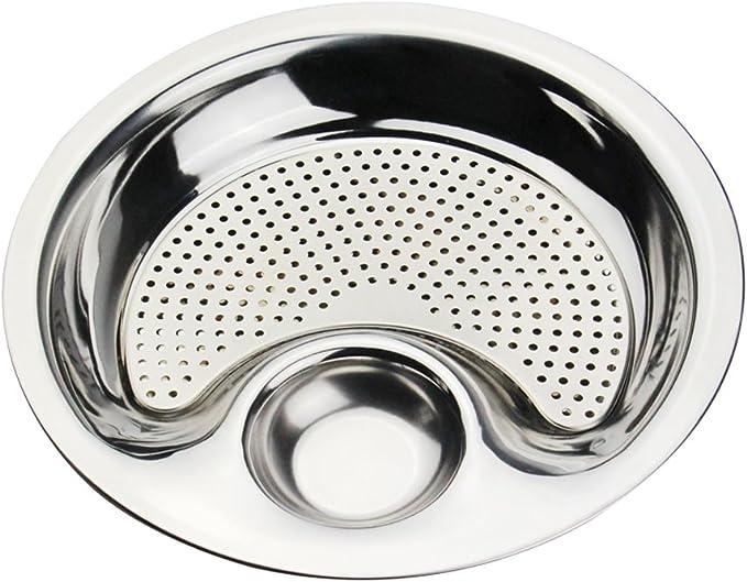 2-Layer Dumplings Plate Fruit Snacks Washing Draining Drainer Tray Dish