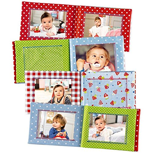 Model# 11732 21.5 x 16.5 cm Baby Charms Fabric Photo Album with Embroidery