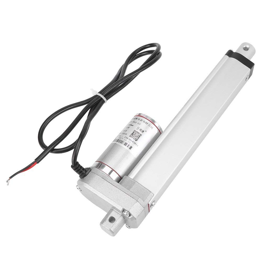 TPSKY Multifunction 12v DC Small Electric Linear Actuator Cylinder Lift Stroke 50/100/150/250/300mm 150KG 330 Pound Maximum Heavy Duty Motor for Medical Automation(150mm)