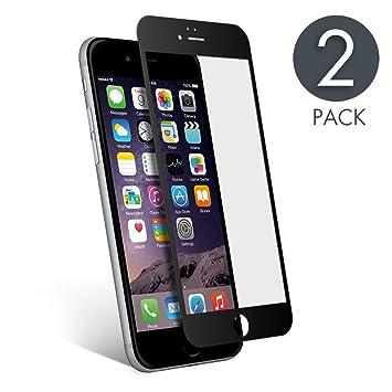 b7226a2f72a aiMaKE Protector de Pantalla Compatible con iPhone 6/6s Plus,3D Pantalla  Completa Cristal