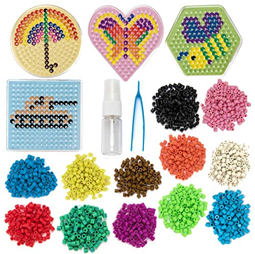 Peachy Keen Crafts No Iron Fuse Bead Kit - Design, Spray and Stay - Pegboard and Tweezers Included for Craft Lovers by Peachy Keen Crafts
