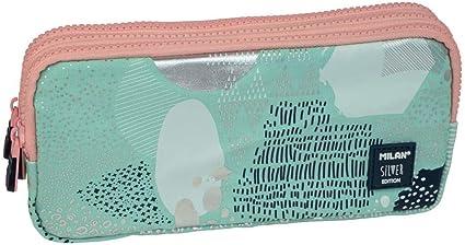 Portatodo 3 cremalleras Silver V turquesa: Amazon.es: Oficina y papelería