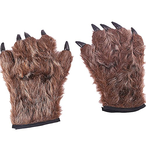 Yiweir Halloween Decorations Props Tricky Realistic Bear's paw gloves