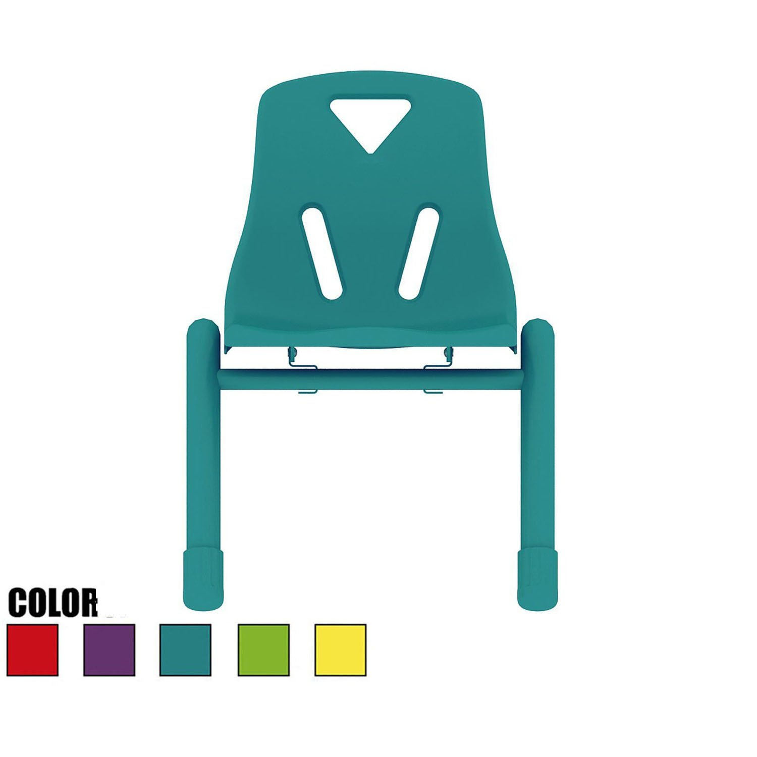 2xhome - Teal - Kids Size Plastic Side Chair 12'' Seat Height Teal Childs Chair Childrens Room School Chairs No Arm Arms Armless Molded Plastic Seat with Coated Metal Legs Stackable
