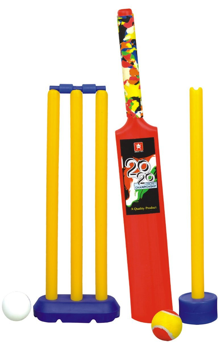 Nippon Senior Cricket Set (Kit Bag) United States of America Cricket Association One day outdoor game T-20 Cricket bat ball test match cricket kit boys Player by Nippon