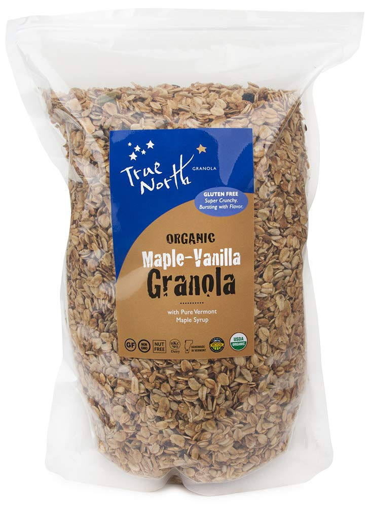 Bulk Gluten Free Organic Maple Vanilla Granola, All Natural, Nut Free and non GMO by True North Granola (5 LB) by True North Granola