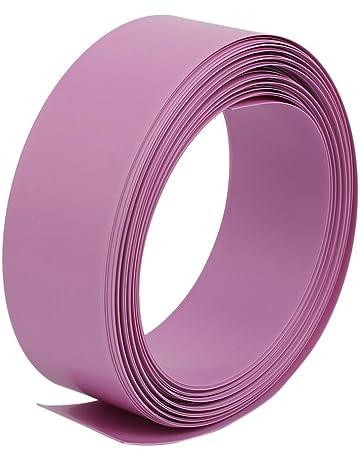 sourcingmap 30pcs 72 mm x 18,5 mm de PVC termorretr/áctiles tubo transparente de 1 x 18650