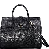 Donna Bella Designs Ginna Leather Shoulder Bag, Black