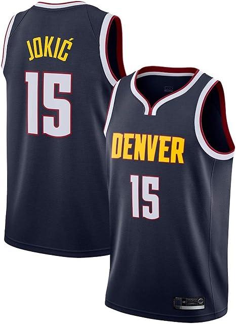 OLIS Hombre Mujer Ropa de Baloncesto NBA Denver Nuggets 15# Jokic Jersey Camiseta de Baloncesto da Bordado: Amazon.es: Deportes y aire libre