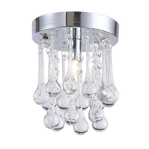 NUEVAS lámparas de techo de cristal de cromo luces de la lámpara del pasillo de iluminación